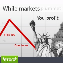 eToro. While markets plummet... You profit.