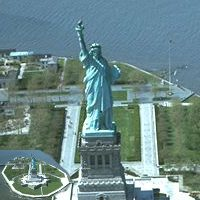 Statue of Liberty in Liberty Island in New York Harbor