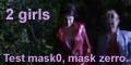 2 girls. Test mask0, mask zerro. Fake-like test for developers.