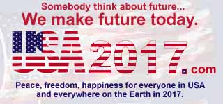 Somebody think about future. We make future today. USA2017.INUMO.RU. Peace, freedom, happiness for everyone in USA and everywhere on the Earth in 2017.